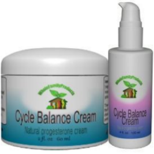 Cycle balance natural progesterone cream in jars or 2 oz pump